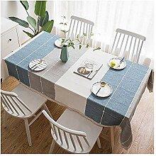 ACZZ Rechteckige Tischdecke aus Baumwolle und