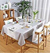 ACZZ Rustikale rechteckige Tischdecke aus PVC