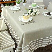 ACZZ Tischdecke Tischdecken Streifen Tischdecke