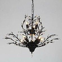ACZZ Vintage Crystal Chandeliers Black