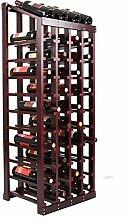 ACZZ Weinregal 48 Flaschen Solid Weinständer aus