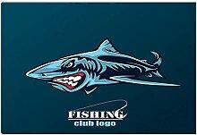AdaCrazy Cooler Badteppich Sea Blue Shark Fishing