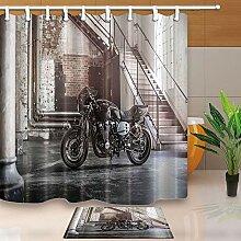 AdaCrazy Motorräder Duschvorhänge für