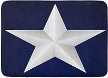 AdaCrazy Silber Weiß Fünfzackiger Stern Blau