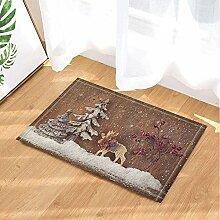 AdaCrazy Weihnachten Bad teppiche Holz Planke