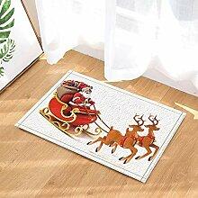 AdaCrazy Weihnachtsdekor Weihnachtsmann fährt