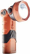 ADALIT Taschenlampe LED-Industriehandleuchte IL-300 ATEX mit Notstromfunktion wiederaufladbar, 1 Stück, orange/schwarz