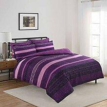 Adam Home Bettwäsche, für Doppelbett, Viole