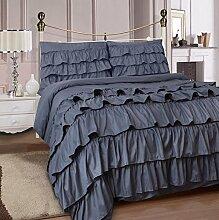 Adam Home Rüschen Bettbezug Mit Spannbettuch &