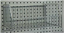 ADB Drahtkorb für Lochwand zum Einhängen glanzverzinkt 20 kg 47x30x22 cm