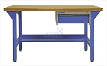 ADB Werkbank mit Schublade Platte 2000xd50mm