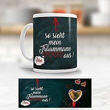 Addies Kaffeetasse bedruckt mit Namen- Becher - Cup - Tee - Valentinstag - Traummann