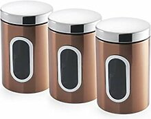 Addis Canisters, Set of 3, Copper by Addis