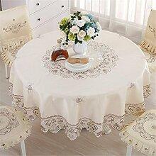 ADDMAT® Tischdecke Bestickte Restaurant Tischdecke Rectangle Wohnzimmer Couchtisch Fashion Table Rock , Diameter 83Cm Round Tablecloth