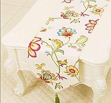 ADDMAT® Tischläufer Pastoral Kaffee Tischtuch Tischdecken Tischläufer Bett Schrank flag flag Tischmatte lange Tischtuch Tischläufer , D , 33*150cm