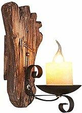 Addsn Vintage Innen Wandbeleuchtung Holz Wandlampe