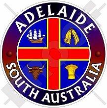 ADELAIDE Südaustralien Australischer 100mm Auto & Motorrad Aufkleber, Vinyl Sticker