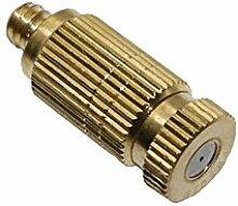 Adhere To Fly 10 Stück Kupfer Spritzgerät Zerstäubung Bewässerung mit männlichen Gewindeverbinder (0.2mm)