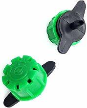 Adhere To Fly 50 Pcs 8 Loch Dripper Mit 1/4 Zoll Barb Connector, Drip Bewässerungsdruck Kompensierende Dripper, Verstellbarer Garten Sprinkler Emitter