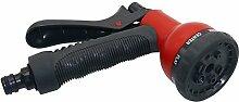 Adhere To Fly 8 Muster Garten Spritzpistole Multifunktions Bewässerung Düse für Bewässerung Pflanzen, Reinigung, Autowäsche, Zeige Haustiere (Rot)