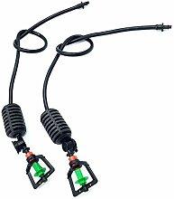 Adhere To Fly Cooling Hanging Sprinkler Für Gewächshaus Bewässerung Mit Barb Connector 360 Grad Rotation Mit Gewicht & Anti Tropf Gerä