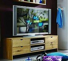 ADHW Fernsehschrank Holz Massivholz TV Kommode