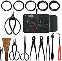 Adikoo Bonsai-Werkzeuge, 10-teiliges Set mit