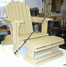 Adirondack Chair W/FOOTREST Paper Plans SO
