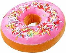 Adkwse Donut Soft Kissen Schokoladen Plüsch