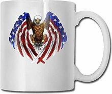 Adler amerikanische Flagge Mode Kaffeetasse