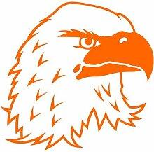 Adler Aufkleber 001, 30 cm, orange