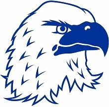 Adler Aufkleber 001, 50 cm, blau