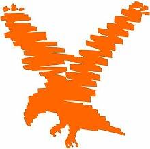 Adler Aufkleber 004, 50 cm, orange