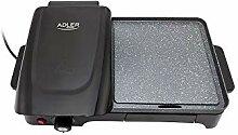 Adler Elektrogrill mit 2200W Leistung AD 6608,