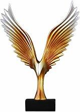 Adler Flügel Muster Ornamente Skulptur Wohnzimmer
