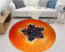 ADLFJGL Bedruckter Teppich Simulierte 3D Fruit Printed Rug Schlafzimmer Wohnzimmer Teppich Crystal Carpet A Teppiche