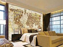 ADLFJGL Große 3D-Stereo Antike Weltkarte Wandbild Schlafzimmer Wohnzimmer Sofa Videos Hintergrund Tapete 200×140Cm Wallpaper