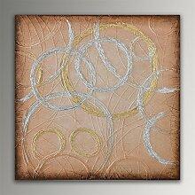 ADM Ringe Gold Abstract acryl gemälde auf