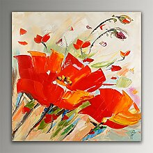 ADM Rote Mohnblumen Flowers modern acryl gemälde