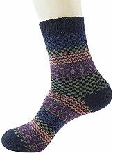 Adminitto88 Herren-Socken aus Wolle, mit Winter,
