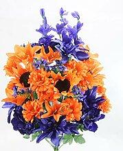 Admired By Nature Künstliche Dahlie, Sonnenblume,