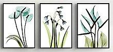AdoDecor 3 Stücke Frühling Grüne Pflanze Lila