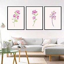 AdoDecor 3 Stücke Nette Frische Rosa Blume