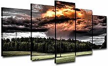 AdoDecor Bild Leinwand Wandkunst für Wohnzimmer 5