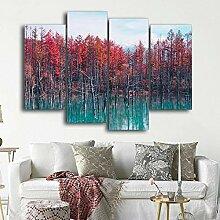 AdoDecor Dekoration Wald Wandkunst Leinwand und