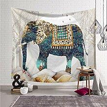 AdoDecor Elefantendruck Wandbehang Teppich werfen