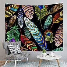 AdoDecor Feder Tapisserie Wandbehang Teppich Dekor