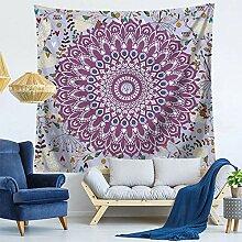 AdoDecor Mandala Tapisserie Wandbehang Teppich