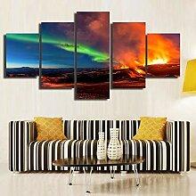 AdoDecor Modulares Bild für Wohnzimmer Gedruckte