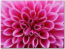 AdoDecor Rosa Dahlie Blumen Leinwand Kunst
